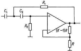 Схемы активных фильтров на ИНУН. фильтр верхних частот