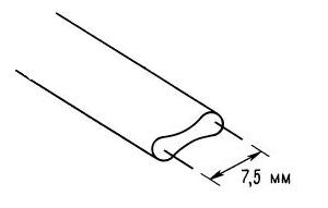 Соединительные линии высокочастотных схем. «двужильный» провод с волновым сопротивлением 300 Ом.